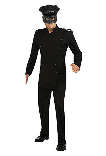 Superhero Costumes Replicas (Green Hornet Deluxe Kato Costume, Black, X-Large)