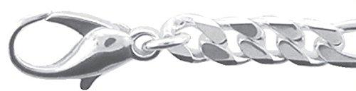 Chaîne Argent Figaro en Argent 925rhodié 45cm