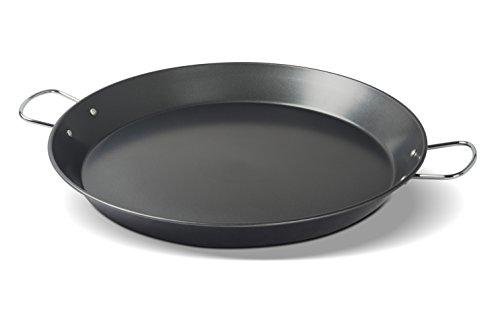 EVERPRIDE Restaurant Spanish Paella Pan | Medium (16''), Round, Carbon Steel | Cook Rice, Seafood, Jambalaya | Stove, Grill, and Burner Safe | Riveted Carrying Handles | 5-8 Servings by EVERPRIDE