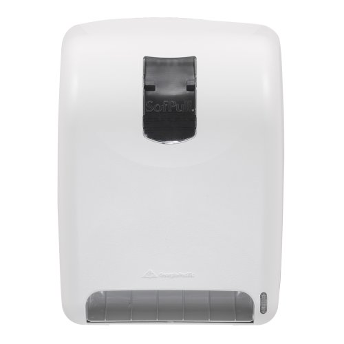 Georgia-Pacific SofPull 59015 White High-Capacity Automated Roll Towel Dispenser by Georgia-Pacific