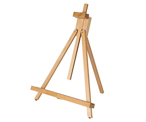 Large Table Easel - Adjustable 18 to 31-1/2 inch CONDA Medium Portable Beech Wood A-Frame Easel