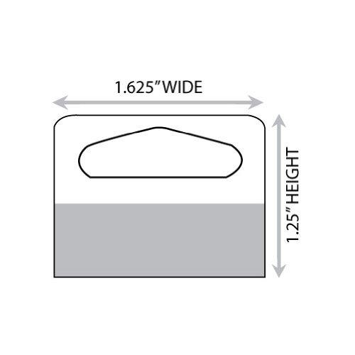 1-10/16'' X 1-1/4'' Slot Holed Adhesive Hang Tabs 1000/Pack