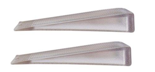 BURGWÄCHTER Türkeil Türstopper, Türen sicher offen halten, aus Kunststoff, transparent, 10 cm, Set 2er