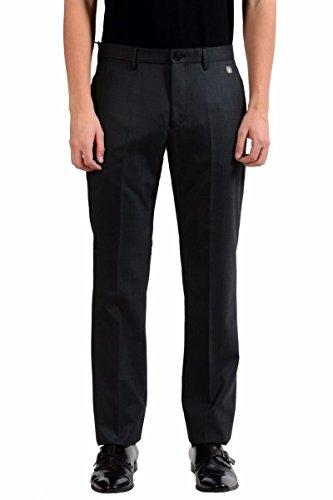 Versace Collection Men's Charcoal 100% Wool Dress Pants Size US 36 IT 52