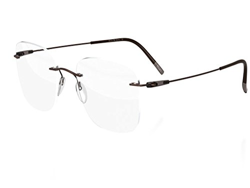 Silhouette Eyeglasses DYNAMICS Colorwave 5500 with DEMO lens (khaki brown 57mm-19mm-145mm, one color)