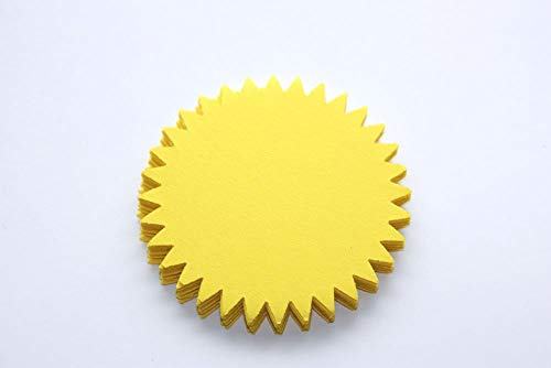 (25 Yellow Sun Cut Outs - Starburst Die Cut - Summer Party)