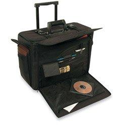 STEBCO 261710BLK Rolling Catalog/Computer Case, Nylon, 18 x 8 x 13, Black (STB261710BLK)