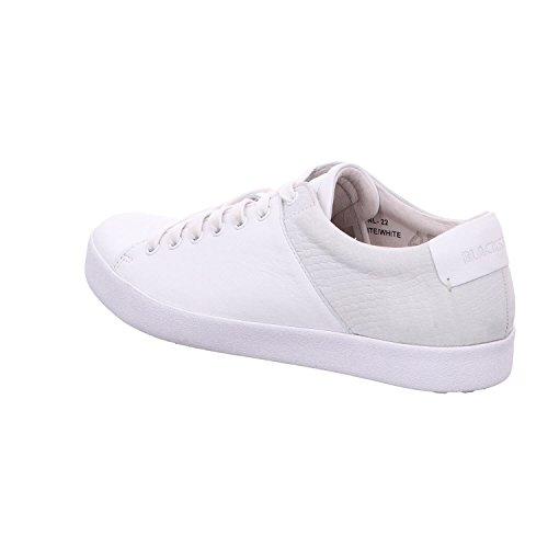 Blackstone Nl22 - Zapatos de cordones para mujer blanco/blanco