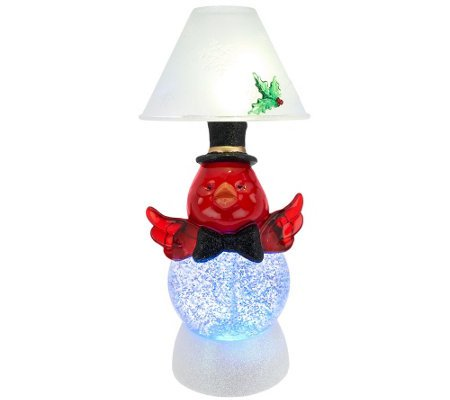 Kringle Express Holiday Character Glitter Dome Candle Lamp (Candle Character)