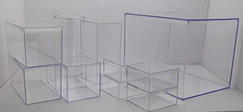 (Clear Large Rigid Plastic Box 12 1/2