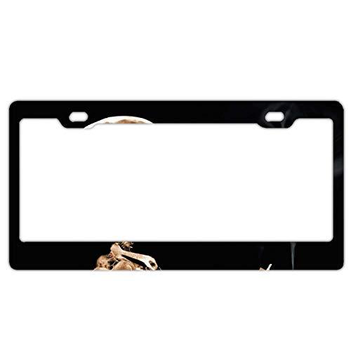 Bone Smoking Custom Aluminum Metal License Plates for US Cars, Metal Auto Car Tag for Women/Men, 12 x 6 Inch
