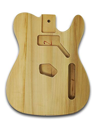 Unfinished Guitar Body For Telecaster Style Electric Guitar, Bass Wood Made