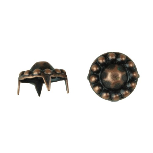 Mexican Sombrero Nailhead Size 40 Solid Brass Colonial Copper Finish 150 pieces per pack