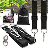 Tree Swing Hanging Kit - witth 360 Swivel for Kids and Adults– (Set of Two) 5 feet Swing Straps with 2 Carabiners & Carry Bag - Also Suitable for Hammocks and Porch Swings