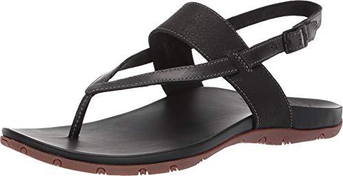 Chaco Women's Maya II Sandal Black 9 M US (Chaco Womens Leather Flip Sandal)