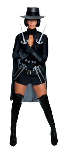 Secret Wishes Womens V for Vendetta Costume, Black, Small