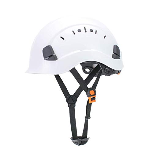 Uninova Safety Hard Hat - Adjustable ABS Climbing Helmet - 6-Point Suspension, Perfect for Riding, Climbing and Construction (White) - Hard Hat Helmet