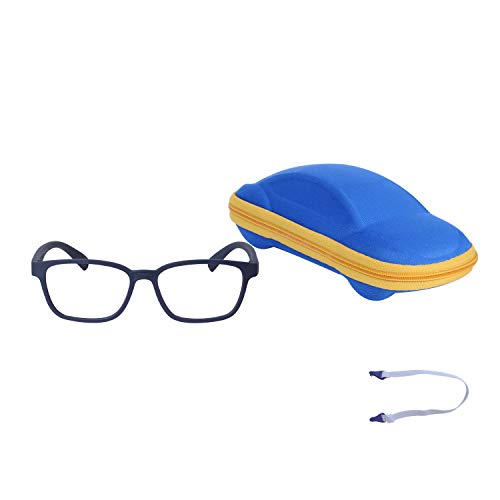 Blue Light Blocking Glasses for Kids Boys Girls with Adjustable Strap + Case + Cleaning Cloth