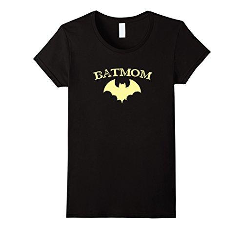 Womens Batmom Super Hero Proud Mom Halloween Costume Gift Medium Black