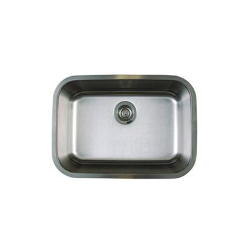 Blanco BL441025 Stellar Medium Single Bowl Undermount Sink, Refined Brushed