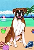 """Boxer by Tomoyo Pitcher, Summer Themed Dog Breed Flags 28"""" x 40"""" For Sale"""