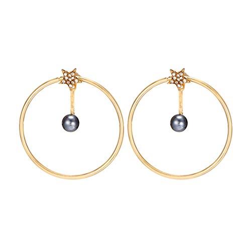 Londony◈ Enamel Moon Star Earth Planet Drop Hook Earrings Long Pendant Dangle Jewelry for Woman Girls Statement -