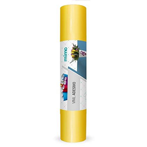 Vinil Adesivo MIMO para Silhouette Cameo - 30cm x 5m - Amarelo
