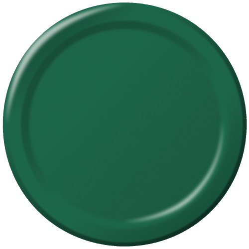 (Creative Converting Touch of Color 24 Count Paper Lunch Plates, Hunter Green)