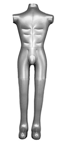 Inflatable Male Full Body Mannequin Dress Form Dummy Without Arms Model Display