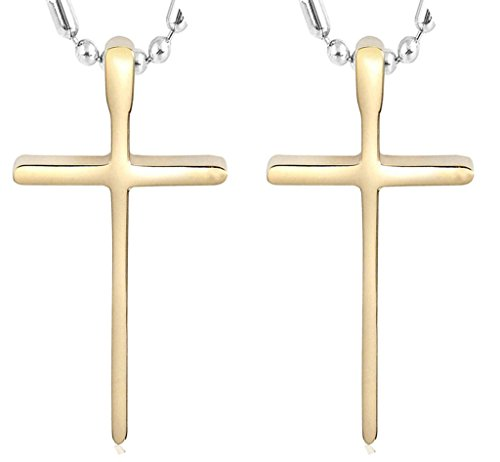 Daesar Hers & Hers Necklace Set Couples Stainless Steel Crucifix Cross Pendant Guardian from - Macy's Online Returns