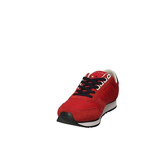 Hilfiger Tommy FM0FM01590 Hombre Rojo Sneakers dZrqZ