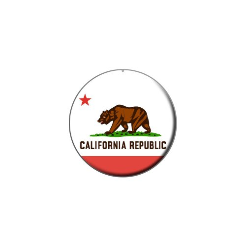 California Republic Flag - Metal Lapel Hat Pin Tie Tack (Republic Flag Lapel Pin)