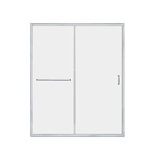 DreamLine Infinity-Z 56-60 in. W x 72 in. H Semi-Frameless Sliding Shower Door, Clear Glass in Chrome, - Sliding Dreamline Infinity Door