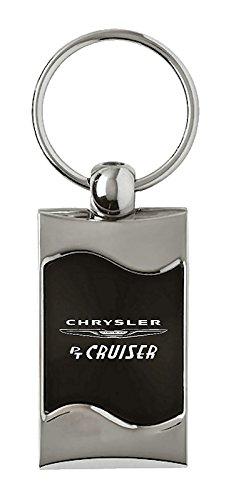 Au-TOMOTIVE GOLD Compatible Keychain and Keyring for Chrysler PT Cruiser Black Wave KC3075.PTC.BLK