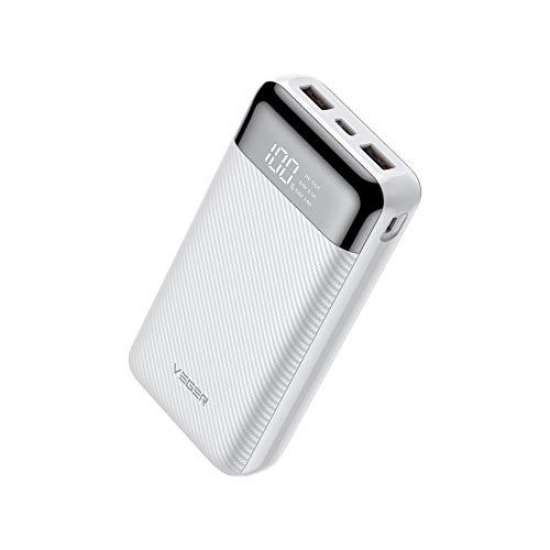 Veger W2019 Digital LCD Display 20000 mAh Li Polymer Power Bank  White