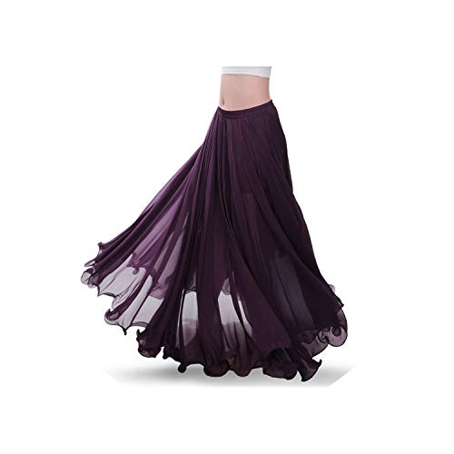 Dance Skirt Full Bellydance Dress Performance Costume Clothes Clothing Skirts,Purple,One Size -