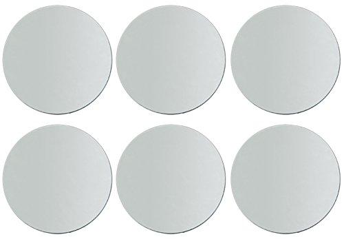 6-PACK - Darice 1635-70 Round Mirror, 10-Inch (Centerpiece Mirror)