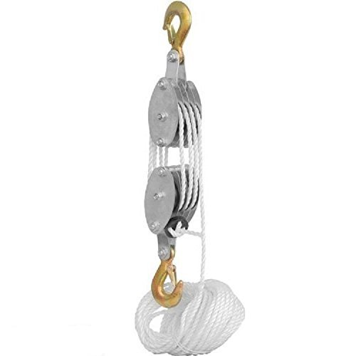 2-ton-rope-hoist-pulley-wheel-block-and-tackle-4000lb-wild-game-deer-hanger-new