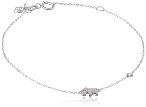 Syd by SE Elephant Bracelet with Bezel Set and Burnished Diamond