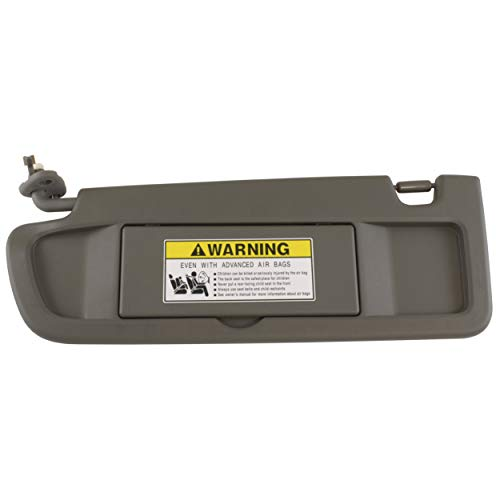 IAMAUTO 52811 Driver Left Atlas Gray Dark Gray Sun Visor for 2006 2007 2008 Honda Civic ()