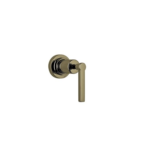 Rohl A4212LMTCBTO Lombardia and Avanti Bath Trim Only for 3/4 Wall Mounted Volume Control Or Four Port Three Direction Diverter with Metal Lever Handle, Tuscan Brass