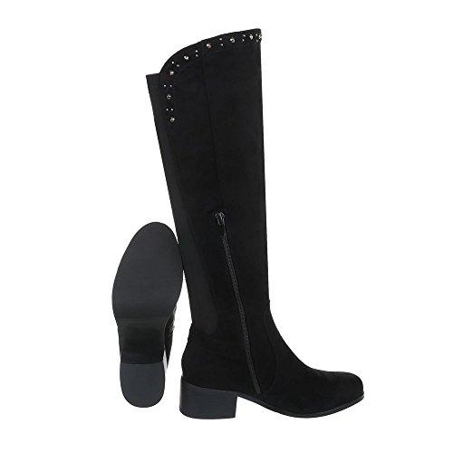 Chaussures femme Bottes et bottines Bloc Bottes classique Ital-Design Noir N6LDJJqs