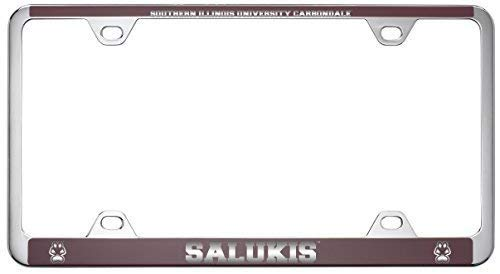 Illinois Plate Stickers - Acove Southern Illinois University Metal License Plate Frame-Burgundy