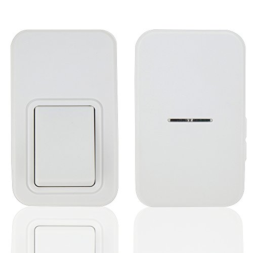 Wireless Doorbell Kit,ANG Waterproof Door Chime,No Battery Required for both Transmitter and Receiver,3-Level Volume,38 Ring (Wire Free Doorbell)