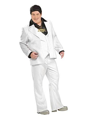 Saturday Night Fever Plus Size Costumes (Forum Novelties Men's Disco Fever Plus Size Costume, White, Plus)