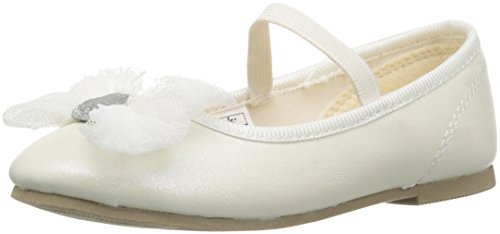 Carter's Girls' Madalyn Ballet Flat, Ivory, 7 M US -