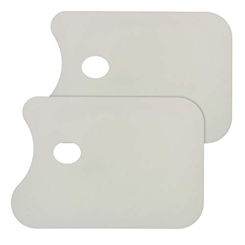 "Custom Shop Plastic 14-1/2"" x 10"" Body Filler Mixing Board/Pallete - (Pack of 2) Also Useful as an Artists Pallete"