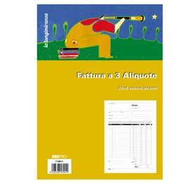 EDIPRO E5304A-BLOCCO FATTURE 3 ALIQUOTE AUTORIC.33x3-A4