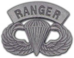 Ranger Paratrooper Silver Finish Lapel Pin or Hat Pin - Paratrooper Army Hat Pins