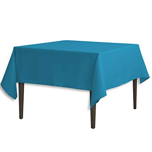 LinenTablecloth 85-Inch Square Polyester Tablecloth Caribbean